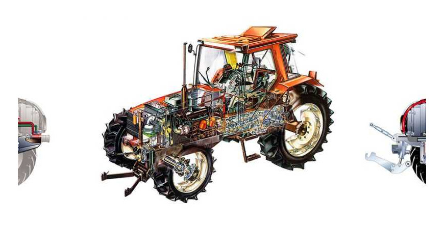 Cuáles son las partes principales del tractor